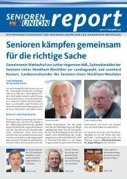 Die komplette Ausgabe Nr. 42 des Senioren-Union Reports können ...