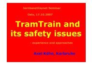 TramTrain and its safety issues