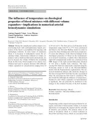 The influence of temperature on rheological properties of blood ...