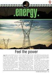 Feel the power - WME magazine