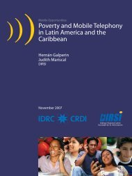Poverty and Mobile Telephony in Latin America and the Caribbean
