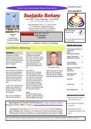 Bulletin Vol 58 issue 5 21Jul 2011 - The Rotary Club of Scarborough ...