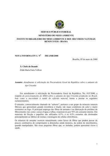Estudo IBAMA desenvolvido pelos técnicos Antônio ... - Crisotila Brasil