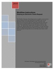 Workflow Electronic Check Request instructions - KU Endowment