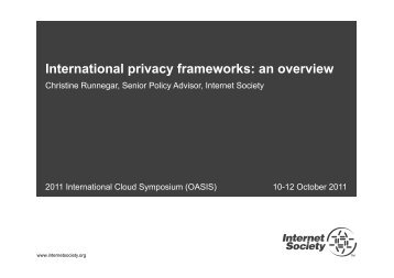 International privacy frameworks: an overview - Events - Oasis