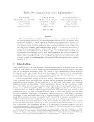 Turbo Decoding as Constrained Optimization - Electrical and ...