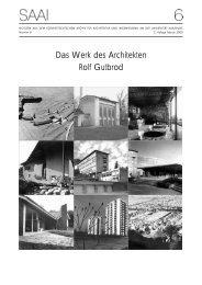 Das Werk des Architekten Rolf Gutbrod - saai