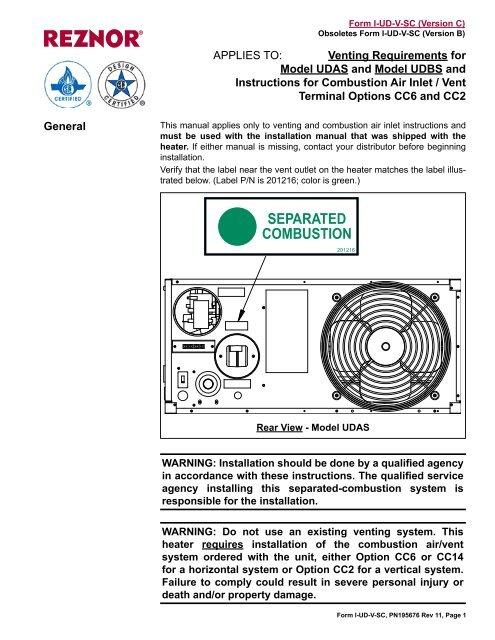 reznor udas venting installation instructions  younits