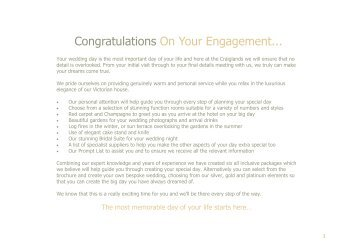 Congratulations On Your Engagement... - Craiglands Hotel
