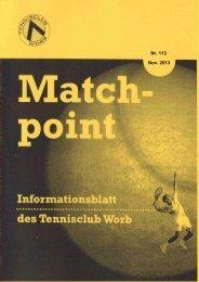 Match-point Nr. 113 - Tennisclub Worb