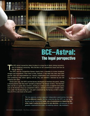 BCE–Astral: - Broadcast Dialogue