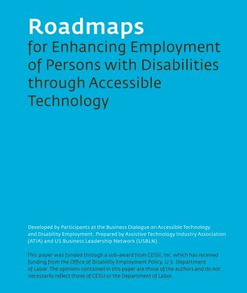 Roadmaps for Enhancing Employment of Persons with Disabilities