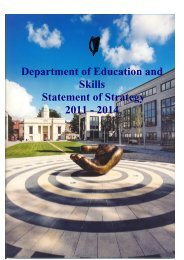 Department of Education and Skills Statement of Strategy 2011 - 2014