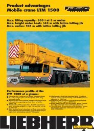 Product advantages Mobile crane LTM 1500 - Passion-Liebherr