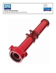 SAFETY LIFTING CLAMPS O&M - FRONT - Weir Oil & Gas Division