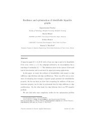 Resilience and optimization of identifiable bipartite graphs
