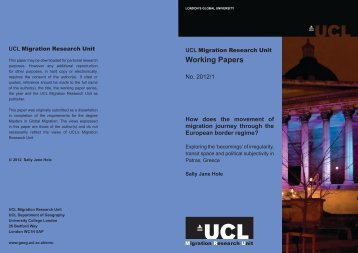 Sally Hole 1.pdf - UCL Department of Geography