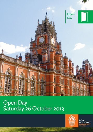 Open Day - Royal Holloway, University of London