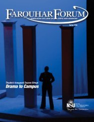 Drama to Campus - College of Arts and Sciences - Nova Southeastern ...