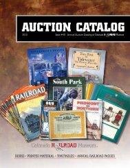 AUCTION CATALOG - Colorado Railroad Museum