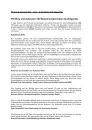 PS Show und Autosalon: Mit Besucherrekord über die ... - Messe Wels