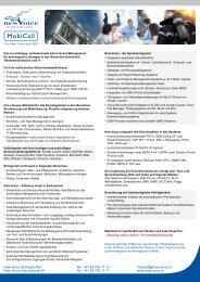 MobiCall Übersicht - New Voice International AG
