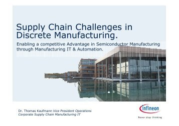 Supply Chain Challenges in Discrete Manufacturing.