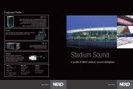 Stadium Sound Brochure - Nexo