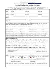 Download SABA Membership Application Form