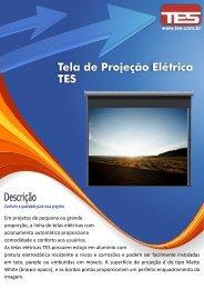 Folheto Tela de Projeção TES Elétrica