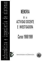 ACTIVIDAD DOCENTE E INVESTIGADORA - Departamento de ...