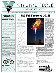 Newsletters/Fall 2012 - Village of Fox River Grove