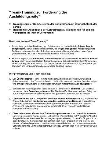 """""""Team-Training zur Förderung der Ausbildungsreife"""" - Christiane ..."""
