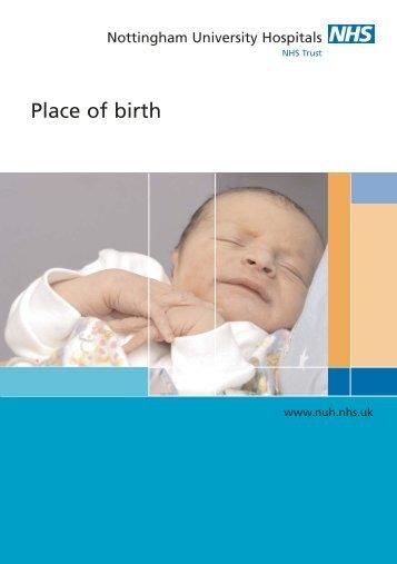 20217 NUH Place of Birth - Nottingham University Hospitals NHS Trust