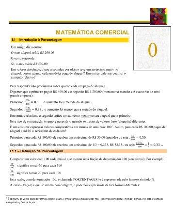 MATEMÁTICA COMERCIAL I.1