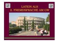 LATEIN ALS 2. FREMDSPRACHE AM GW - Gymnasium Wentorf