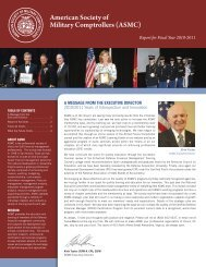 2010 Annual Report - American Society of Military Comptrollers