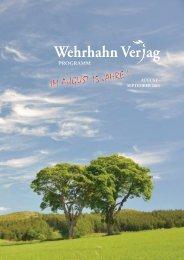 Programm Juli bis September 2011 - Wehrhahn Verlag