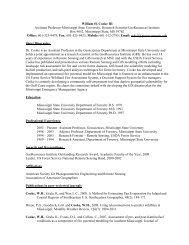 Curriculum Vita - Department of Geosciences - Mississippi State ...