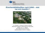 Dr. Gerlach, Knochendefektaufbau nach Infekt - Septische Chirurgie