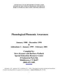 Phonological/Phonemic Awareness - The State Education Resource ...
