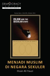 Islam and the Secular State - Democracy Project