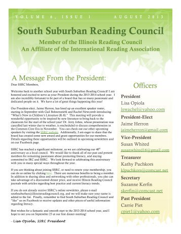 August 2013 - Illinois Reading Council