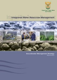 groundwater management strategy: summary ( level 2) - iwrm