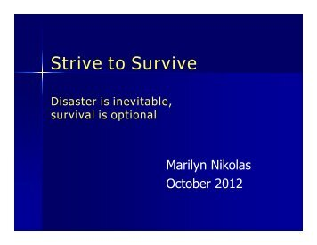 Strive to Survive - ResilienceNW.org