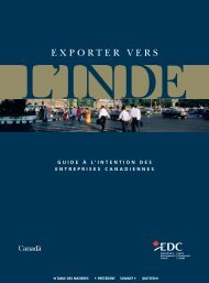Exporter vers l'Inde - Guide à l'intention des entreprises Canadiennes