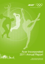 disclaimer - Acer Group