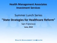 State Strategies for Healthcare Reform - Health Management ...