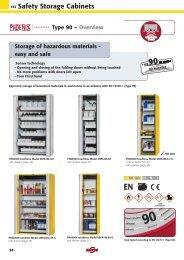 ‹‹‹ Safety Storage Cabinets