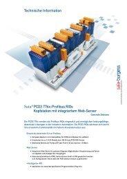 Technische Information Saia® PCD3.T76x-Profibus RIOs ...